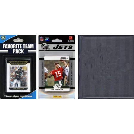 C&I Collectables NFL New York Jets Licensed 2012 Score Team Set and Favorite Player Trading Card Pack Plus Storage Album