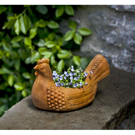 Hen Planter, campania Cast Stone Animal Statue Garden -