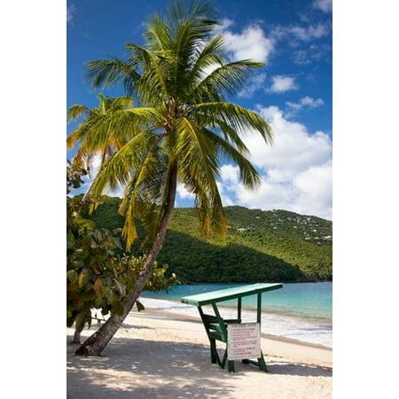 Beach Lifeguard post St Thomas US Virgin Islands Canvas Art - Brian Jannsen  DanitaDelimont (19 x (History Of St Thomas Us Virgin Islands)