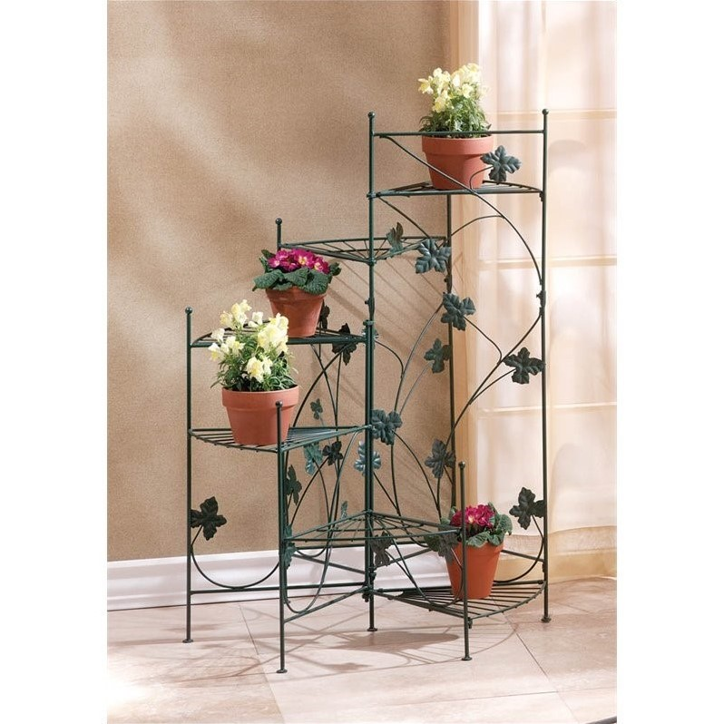 Zingz and Thingz Ivy-Design Staircase Plant Stand by Zingz & Thingz