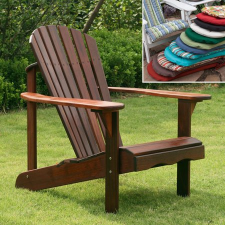 Adirondack Chair - Belham Living Richmond Curveback Shorea Deluxe Adirondack Chair with Optional Cushion