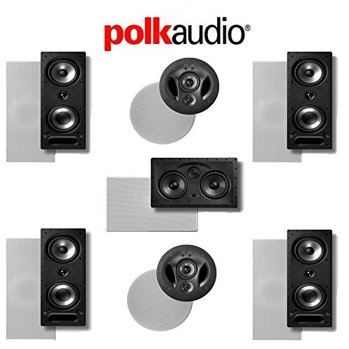 Polk Audio 265-RT 7.0 Vanishing Series In-Wall   In-Ceiling Home Theater System (265-RT + 900-LS + 255C-LS) by Polk Audio