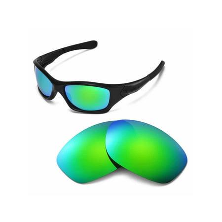 4a4eefea2b Walleva - Walleva Emerald Polarized Replacement Lenses for Oakley Pit Bull  Sunglasses - Walmart.com
