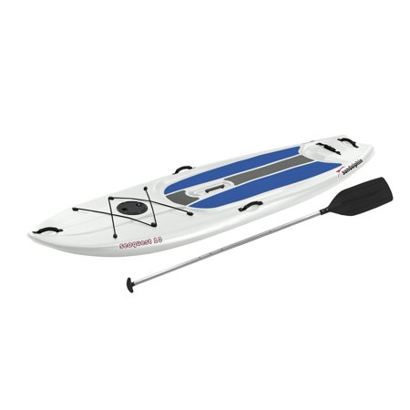 Sun Dolphin White/Blue Seaquest 10' Stand Up Paddle Board, Includes Paddle