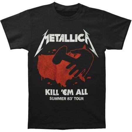Metallica Men's Kill Em All Summer '83 Tour T-Shirt