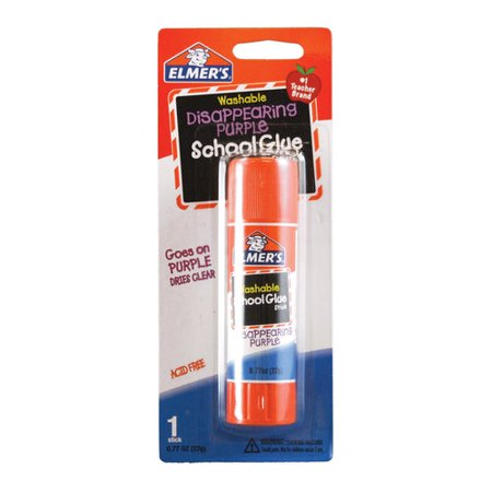 (4 Pack) Elmer's Disappearing Purple Washable Large School Glue Sticks, 0.77 Ounces, 1 - 4 Ounce School Glue