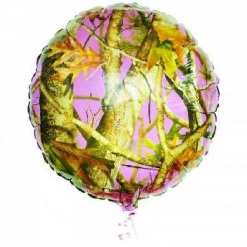 """Pink Camo 18"""" Mylar Balloon (Each) - Party Supplies"""