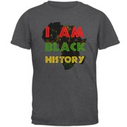 I am Black History Africa Distressed Mens T Shirt Dark Heather 2XL