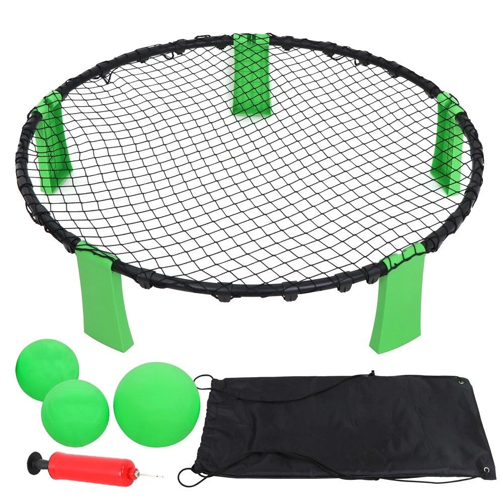 Zeny Beach Volleyball Spike Game Toss Set (Includes 3 Balls, Carrying Case and Rules)