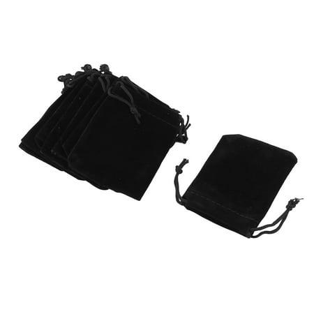 School Dorm Velvet Sundries Pen Eraser Ring Holder Drawstring Bag Black 10 - Ring Eraser