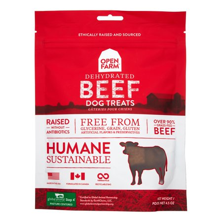 Open Farm Grain-Free Beef Dehydrated Dog Treats, 4.5