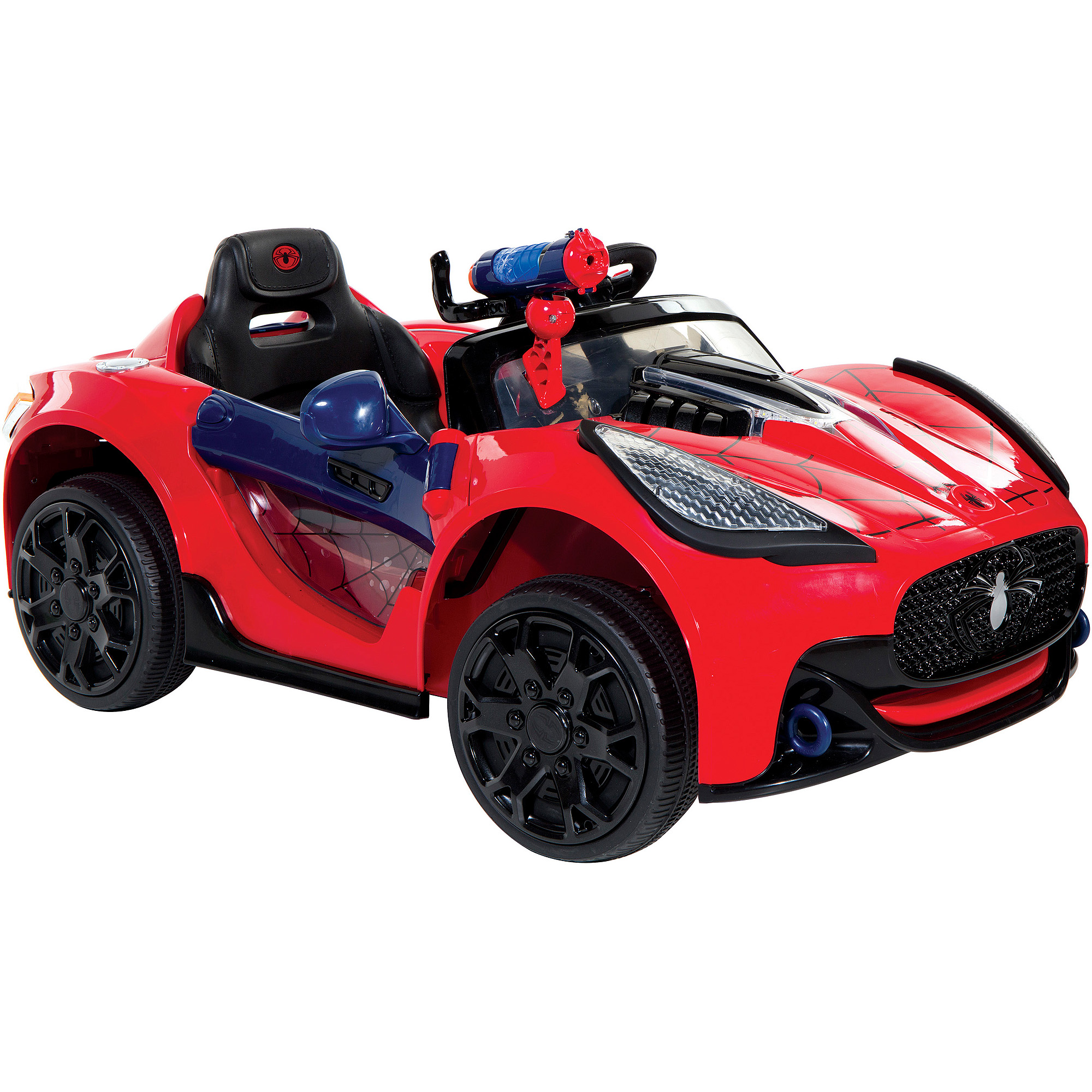 spider man super car 6 volt battery powered ride on walmartcom