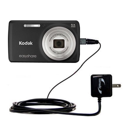 Gomadic Intelligent Compact AC Home Wall Charger suitable for the Kodak EasyShare M552 - High output power with a convenient, foldable plug design -