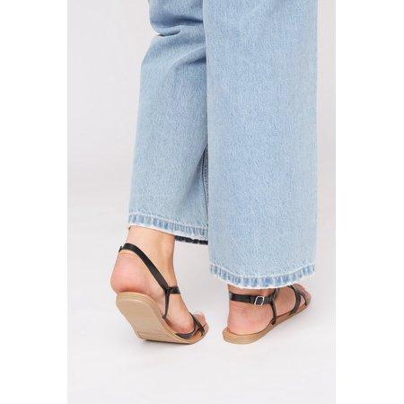 Urban Planet Women's Strappy Flip Flop Sandal - image 2 of 3