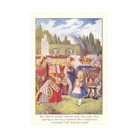 Alice in Wonderland, Queen of Hearts Print Wall Art](Alice In Wonderland Queen)