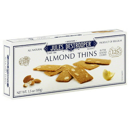 Jules Destrooper Almond Thins Cookies, 3.5 oz (Pack of 12)