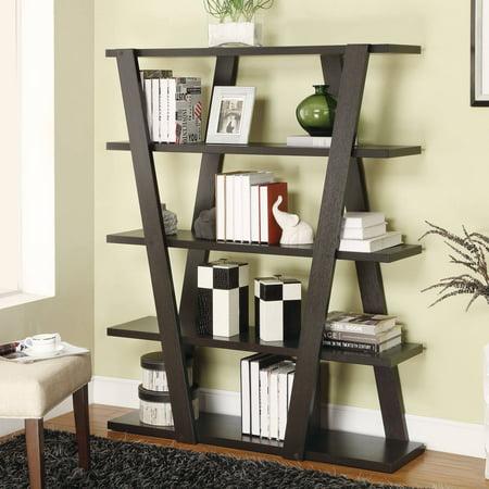 Coaster Company Modern 4-Tier Bookcase, Cappuccino - Walmart.com