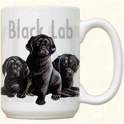 Fiddlers Elbow c106 Black Lab Puppies Mug, Pack Of 2