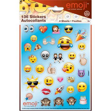 (4 Pack) Emoji Sticker Sheets, 4 ct