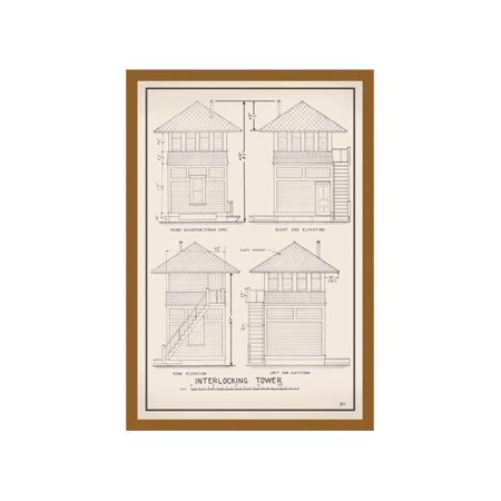 Interlocking Tower Print (Unframed Paper Print 20x30)