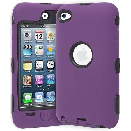 Dual Flex Hard Hybrid Gel Case for Apple iPod Touch 4th Gen -