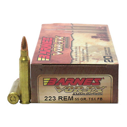 60165 Barnes Bullets VOR-TX 223 Remington TSX 55gr /20