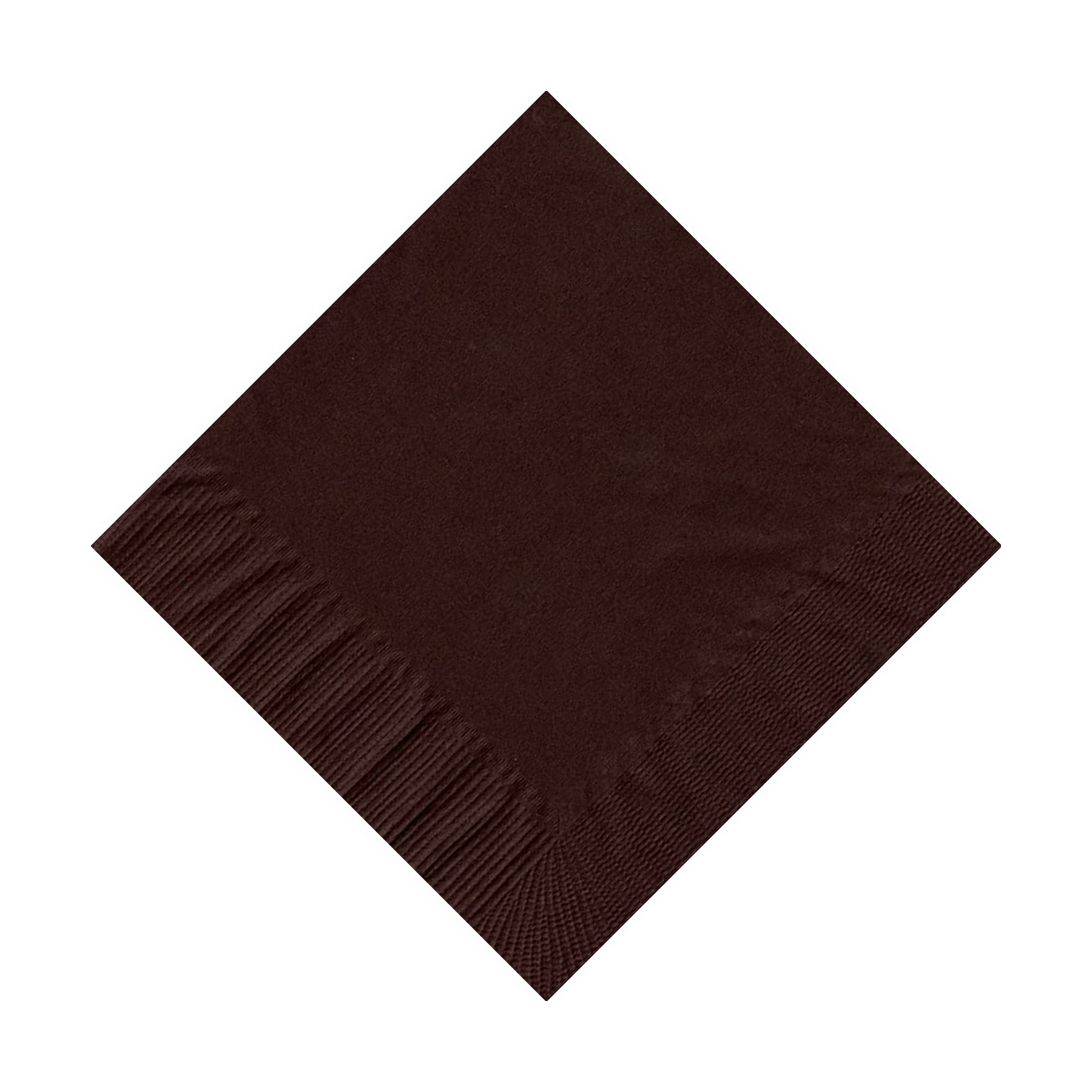 50 Plain Solid Colors Beverage Cocktail Napkins Paper Brown by CREATIVE CONVERTING