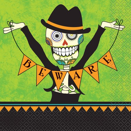 Day of the Dead Halloween Party Lunch Napkins, 16ct](13 Days Of Halloween Lyrics)