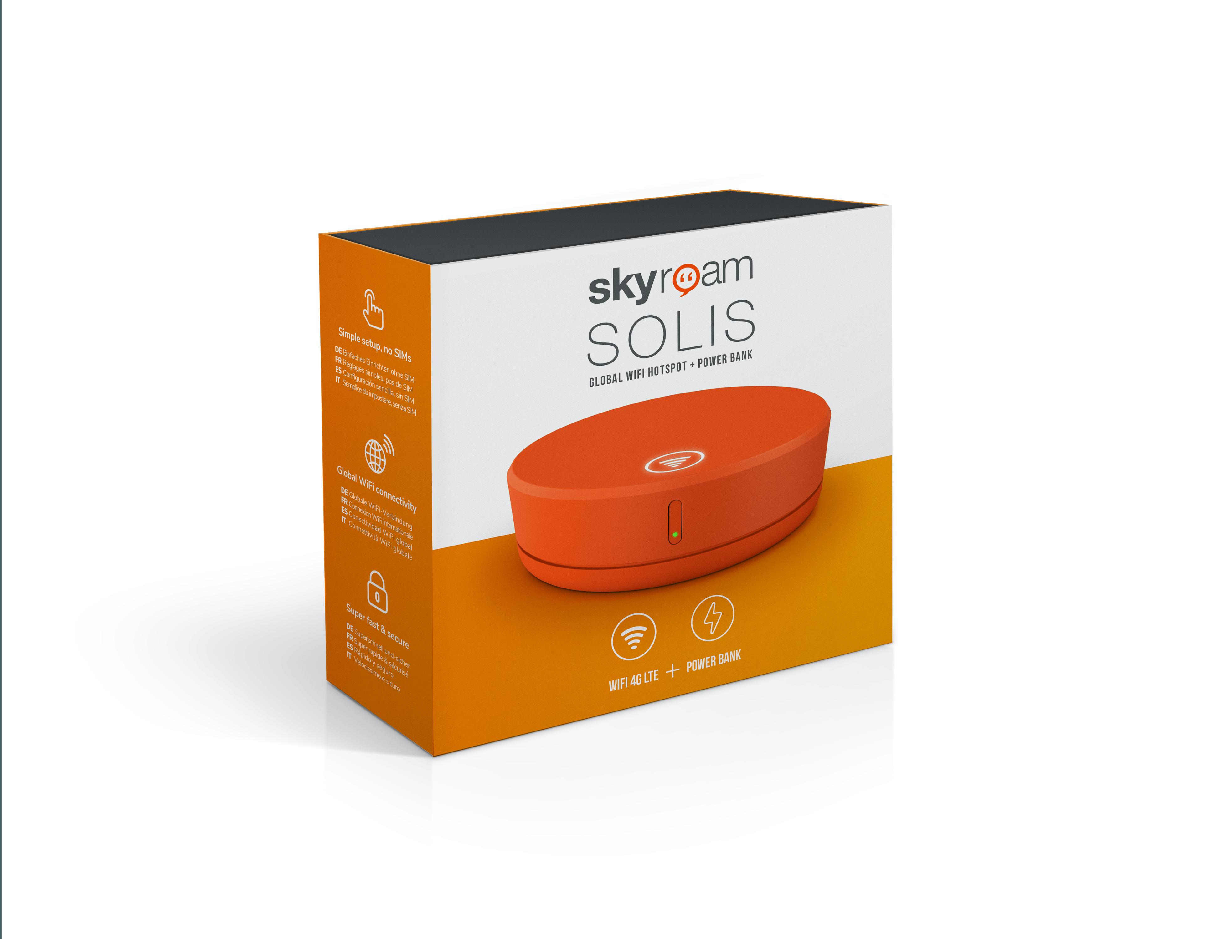 Skyroam Solis Mobile WiFi Hotspot & Power Bank (Unlimited