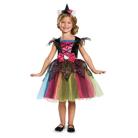 Girls Deluxe Hello Kitty Witch Costume