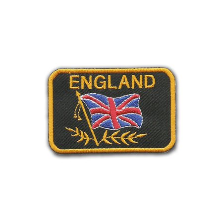 England Embroidered Badge Iron On Sew On Clothes Jacket Jeans 8 cm x 5.5 cm Logo Sew Ironed On Badge Embroidery Applique Patch