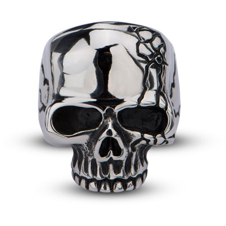 Men's Stainless Steel Polish Finished Skull Ring with