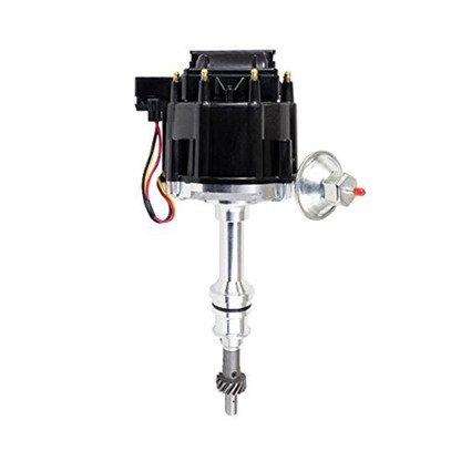 SBF Ford Small Block 351W Windsor HEI Ignition Black Cap Distributor 65K