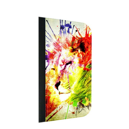 Watercolor Lion Splash Art - Wallet Flip Style Phone Case Compatible with the Samsung Galaxy s8 Plus / s8+ Universal