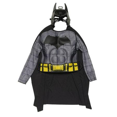 Big Boy Phone Tap Halloween (DC Comics Batman Halloween Costume Shirt Cape Mask One Size 4-6 (Big)