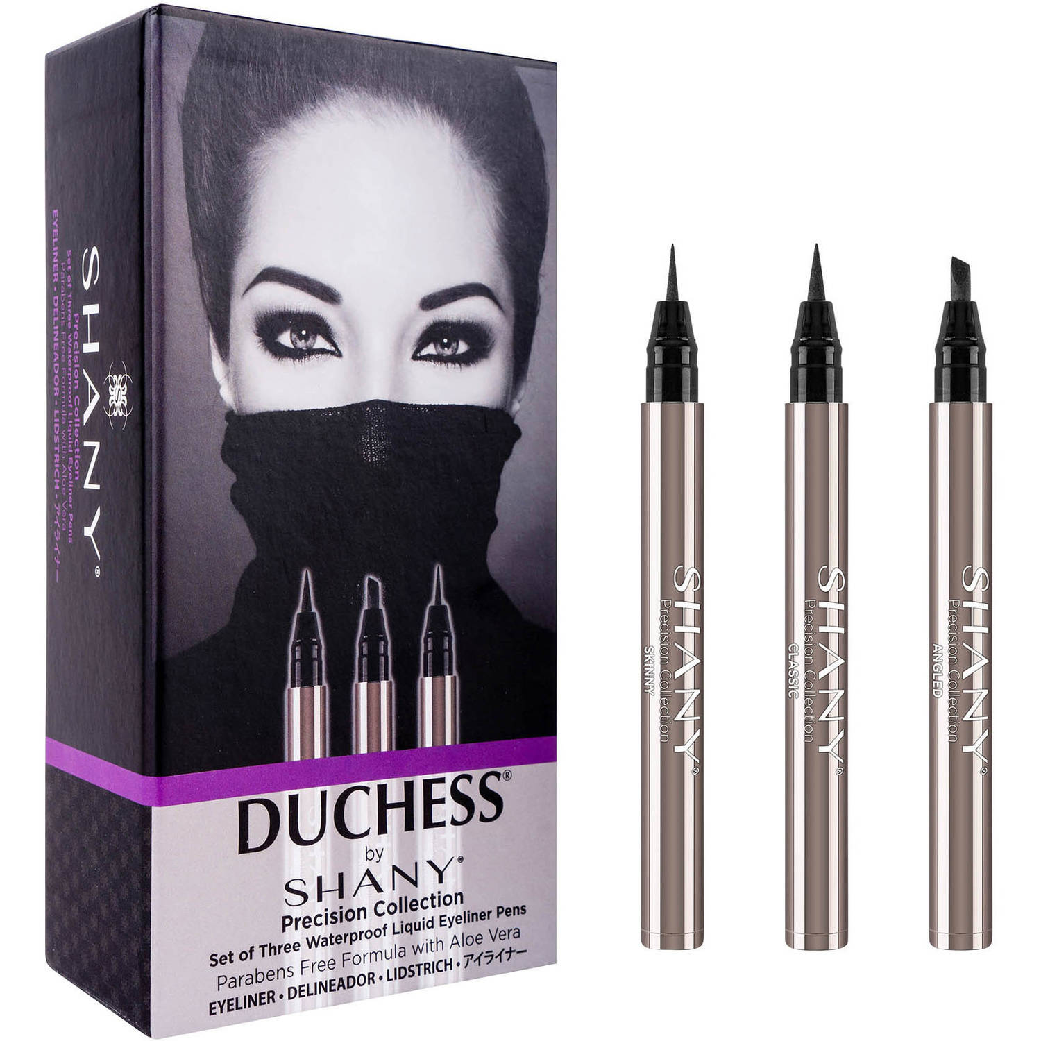 Duchess by SHANY Precision Collection Waterproof Liquid Eyeliner Pens, 3 count