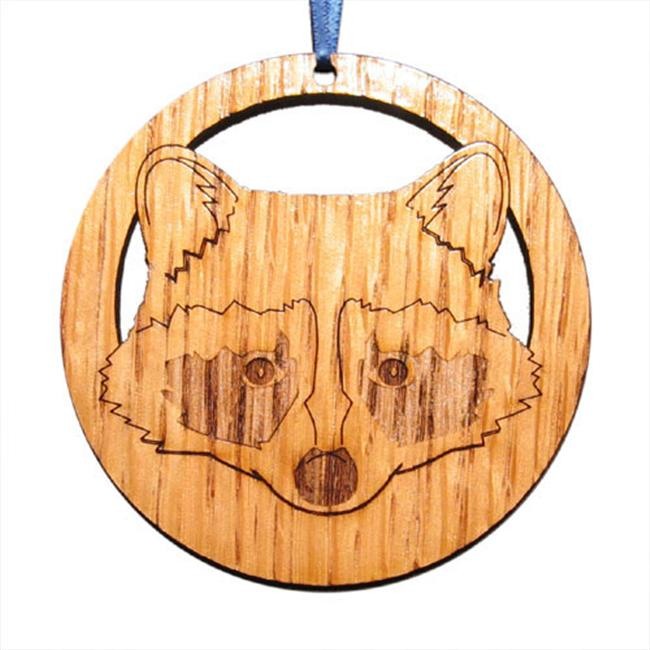 CAMIC designs WIL001N Laser-Etched Raccoon Ornaments - Set of 6