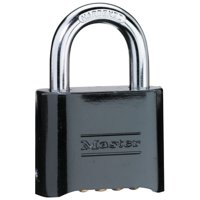 Master Lock Padlock 178D Set Your Own Combination Solid Body, 2in (51mm) Wide, Black