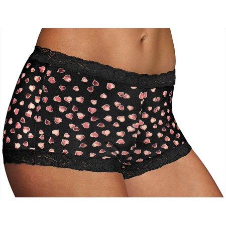 Maidenform Lace Trim Boyshort Panties 40760 Lace Trim Mesh Panties