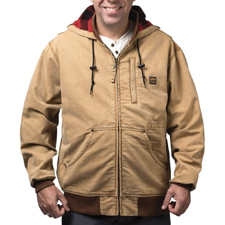 Men's Vintage Duck Hooded Jacket Washed Graphite (Pecan Apparel)