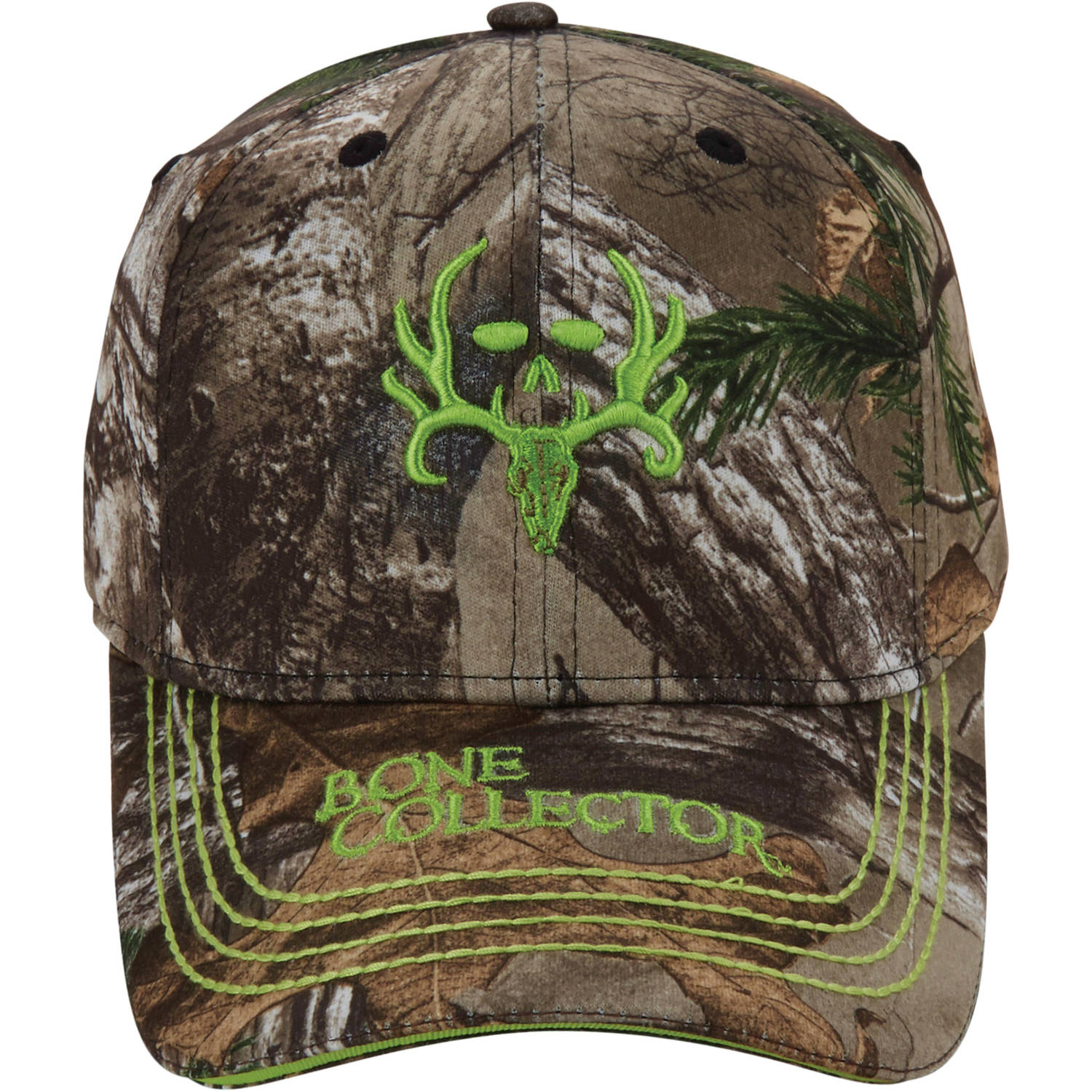Bone Collector Camo Green Logo Cap, Realtree Xtra Camo