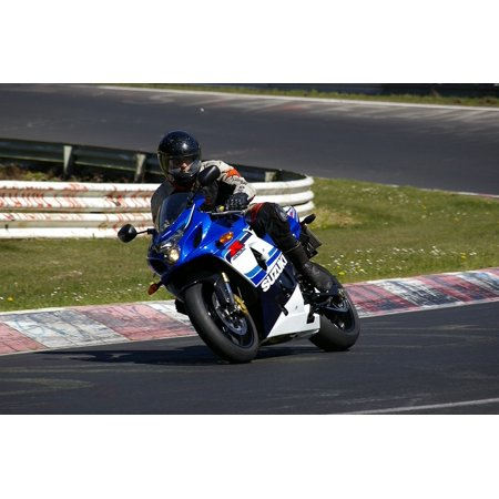 Peel-n-Stick Poster of Gsx-r Motorcycle Side View Suzuki Poster 24x16 Adhesive Sticker Poster Print