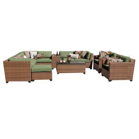 tuscan 12 piece outdoor wicker patio furniture set 12b