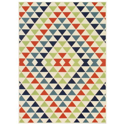 Nolita Rugs Indoor/ Outdoor Multi Kaleidoscope Rug (5'3 x 7'6)