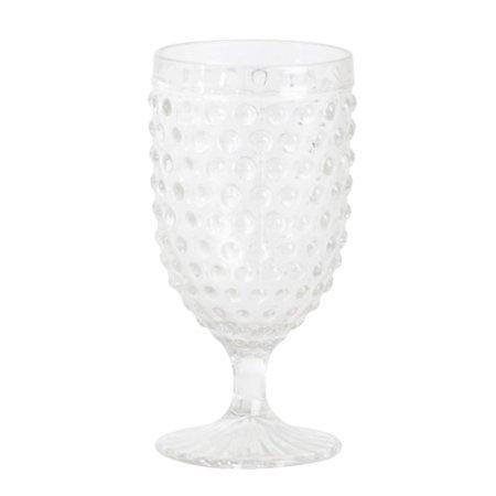 Saro Hobnail 14 oz. Glass Goblet (Set of 6)