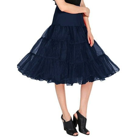 Market In The Box 1950s Women Vintage Rockabilly Petticoat Skirt Tutu Underskirt](Black Tutus For Adults)