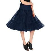Market In The Box 1950s Women Vintage Rockabilly Petticoat Skirt Tutu Underskirt
