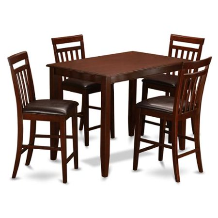 mahogany table and 4 dining room chairs 5 piece dining set faux