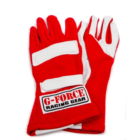 Air Force Glove (G-Force Double Layer Medium Red G5 RaceGrip Driving Gloves P/N)