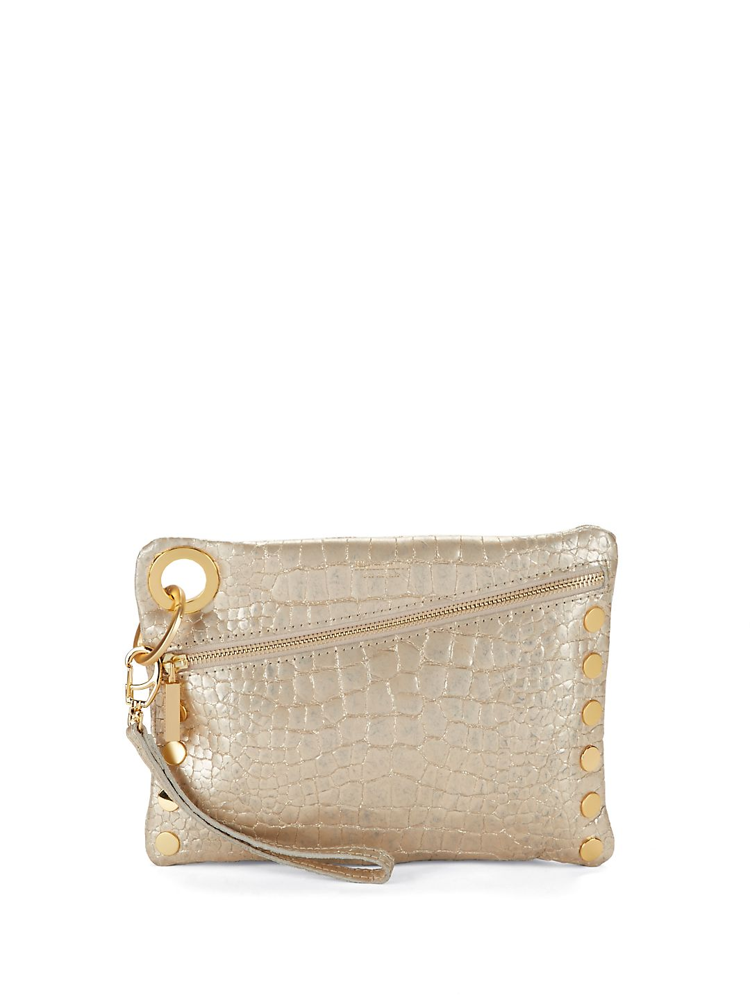 Nash Embossed Leather Clutch Crossbody
